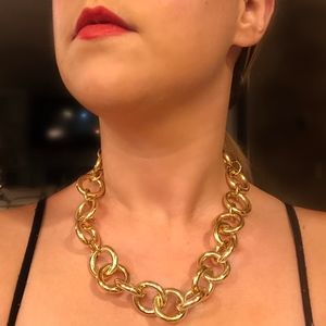 J. Crew Chunky Circular Gold Chain Necklace